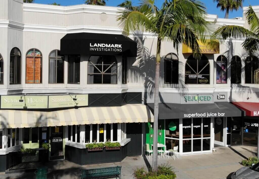 Showing street-view of Landmark Investigations in Corona Del Mar