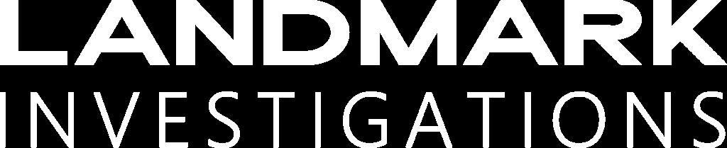 landmark investigations logo white